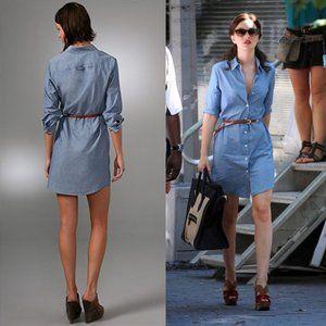 Theory Ashleigh Shirtdress Chambray Tunic Dress